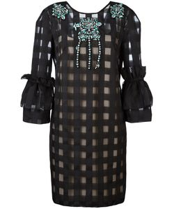 Marco Bologna | Grid Puff Sleeve Dress Size