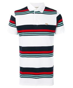 Maison Kitsuné | Striped Polo Shirt Size Large