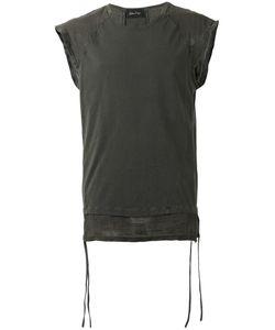 Andrea Ya'aqov | Linen-Trimmed Muscle Tank Top Size Xl