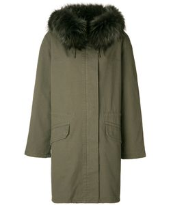 Army Yves Salomon | Fur Hood Oversized Jacket