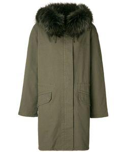 Army Yves Salomon   Fur Hood Oversized Jacket Women