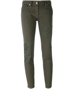 Blumarine   Leaf Patch Skinny Trousers Size 48