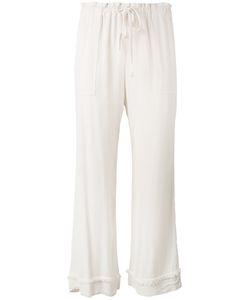 Raquel Allegra | Crepe Drawstring Waist Cropped Pants