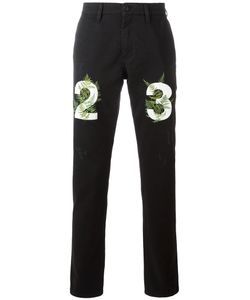Off-White | Numbers Print Slim-Fit Jeans 32 Cotton/Spandex/Elastane