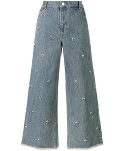 Sandy Liang | Swarovksi Crystal Embellished Jeans 36 Cotton/Swarovski