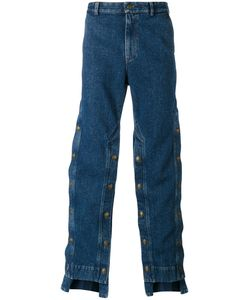 Y / Project | Decorative Button Wide-Leg Jeans