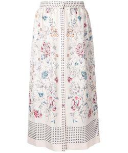 Vilshenko   Printed Button Skirt 10 Silk