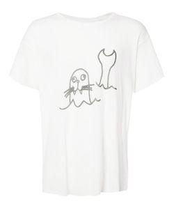 The Elder Statesman | Sketch Print T-Shirt Xxl Silk/Cashmere