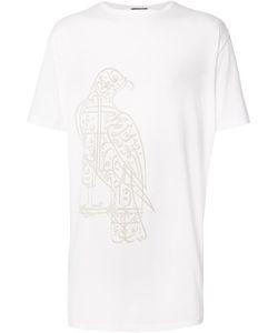 Thamanyah   Falcon Print T-Shirt Large Cotton