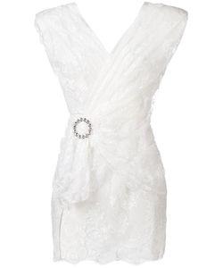Alessandra Rich | Lace Wrap Blouse