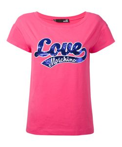 Love Moschino | Sequin Embroidered T-Shirt