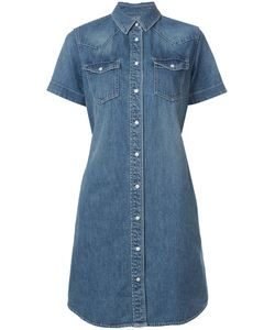 Sacai | Belted Denim Shirt Dress Women