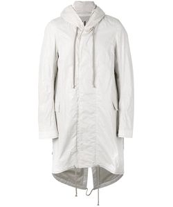 Rick Owens DRKSHDW   Elongated Back Hooded Coat