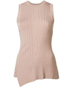 Jason Wu | Ribbed Asymmetric Tank Top Large Rayon