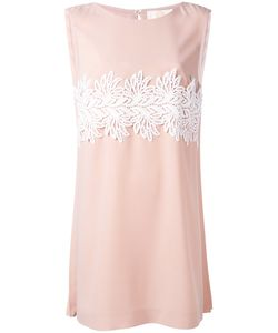 Sara Battaglia | Lace-Panelled Crepe Dress
