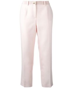 Salvatore Ferragamo | Cropped Trousers 40 Virgin Wool/Silk