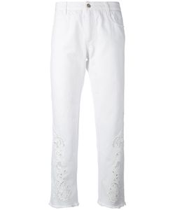 Ermanno Scervino | Embroidered Slim-Fit Trousers