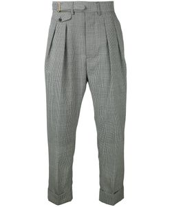 Wooster + Lardini | Puppytooth Drop-Crotch Trousers