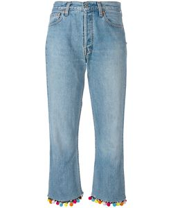 Forte Couture | Pompom Cropped Jeans Size 27