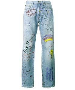 Mira Mikati | Hand Painted Doodle Jeans