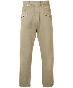 Balmain   Biker Fly Baggy Trousers 34 Cotton