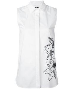 Eggs   Flower Print Sleeveless Shirt