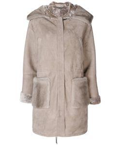 Manzoni 24 | Panelled Hooded Coat Women Mink Fur/Sheep