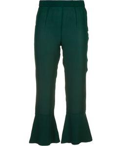 Piamita | Pandora Flare Hem Cropped Trousers Size Xl