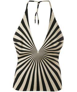 Gareth Pugh   Geometric Printed Halter Top Silk/Cotton/Polyester/Virgin