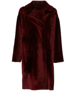 Drome | Double Breasted Fur Coat Viscose/Lamb Fur/Pbt