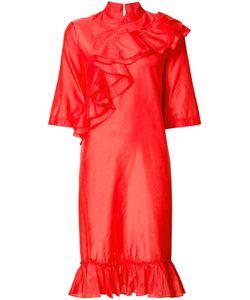 Tome | Mandarin Collar Ruffle Dress