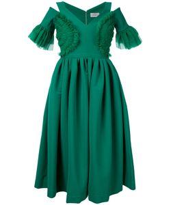 Preen by Thornton Bregazzi | Cut-Out Detail Flared Dress