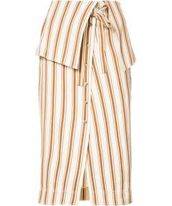 Rosie Assoulin | Folded Waist Striped Skirt