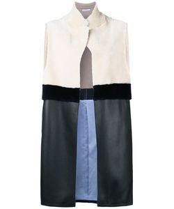 Inès & Maréchal | Amande Vest Women Cotton/Calf Leather/Lamb
