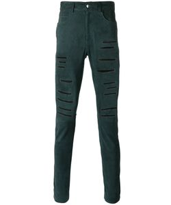 Giorgio Brato | Ripped Leather Trousers Size 48