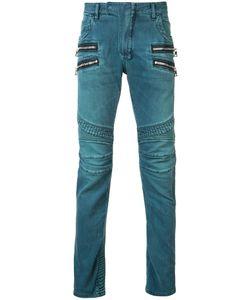 Balmain   Straight Fit Biker Jeans