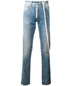 Off-White | Splitter Print Slim-Fit Jeans 30 Cotton/Polyester