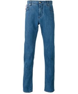 Isaia | Paisley Lined Skinny Jeans Men