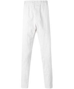 Ann Demeulemeester Grise | Elastic Waistband Trousers Medium Linen/Flax
