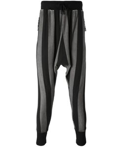 Unconditional | Striped Drop-Crotch Drawstring Trousers Men