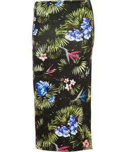 Fleur Du Mal | Tropical Print Slit Skirt