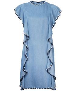 Huishan Zhang   Embellished Ruffle Dress