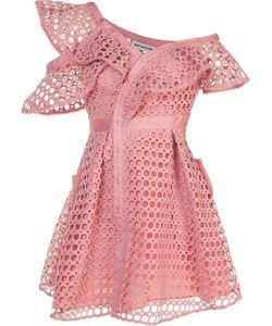 Self-Portrait | Lace Frill Mini Dress Size 8