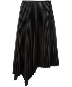 Cédric Charlier | Asymmetric Pleated Skirt 44 Polyester