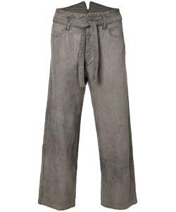 Horisaki Design & Handel | Tie-Waist Cropped Trousers Unisex