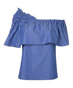 Le Ciel Bleu | Striped Off Shoulder Blouse