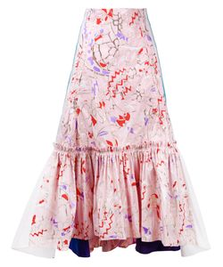 Peter Pilotto | Abstract Printed Pleated Skirt