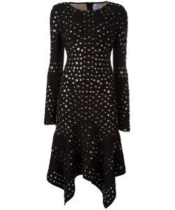Hervé Léger | Eyelet Handkerchief Dress Medium Rayon/Nylon/Spandex/Elastane/Metal Other