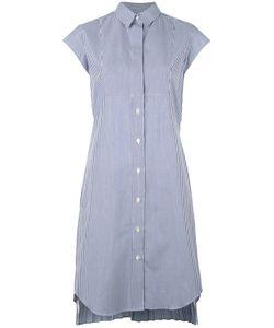 Sacai | Pleated Pinstripe Shirt Dress