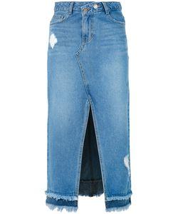 Steve J & Yoni P | Central Slit Denim Skirt